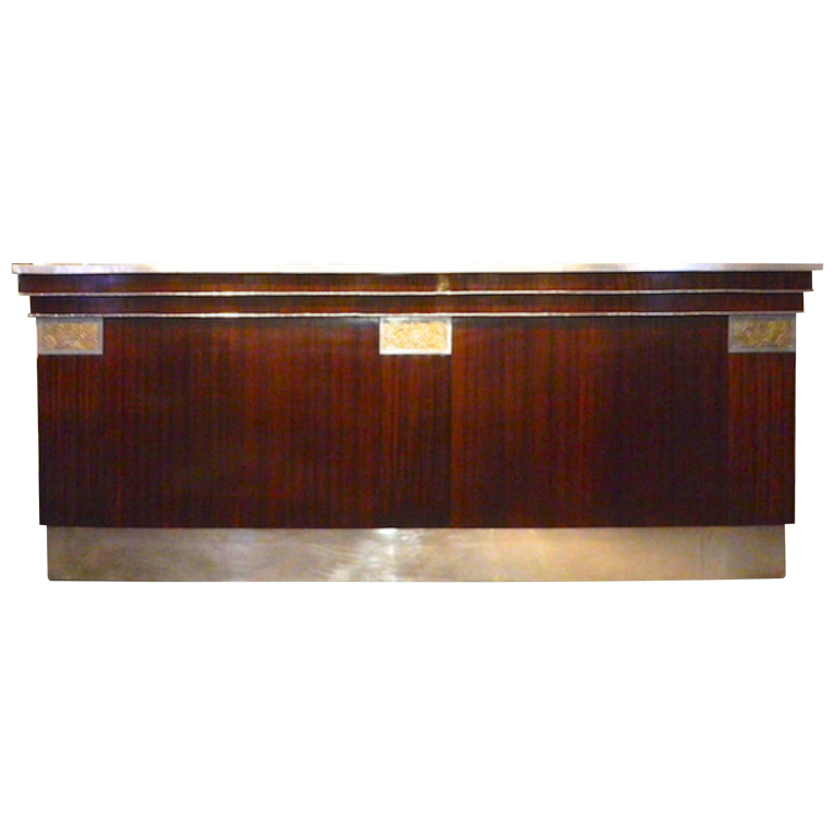 French Art Deco Zinc Bar Beautifully Restored Sold