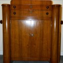 Original multi-function Art Deco Bar with Silverware Storage