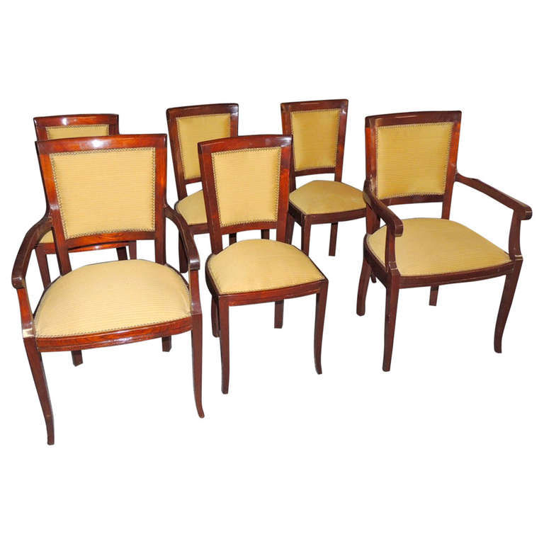 6 Stunning Art Deco Side Chairs French Style Dining