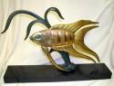 Art Deco statue depicting a fish