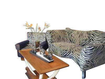 Zebra sofa suite