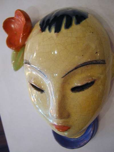 Austrian Ceramic Mask Sold Items Masks Amp Figurines Art