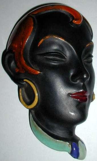 Czech terra-cotta mask