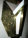 spectacular brassed/bronze sconces