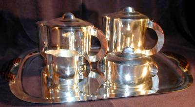 French Coffee-Tea 5 piece set with Rosewood handles