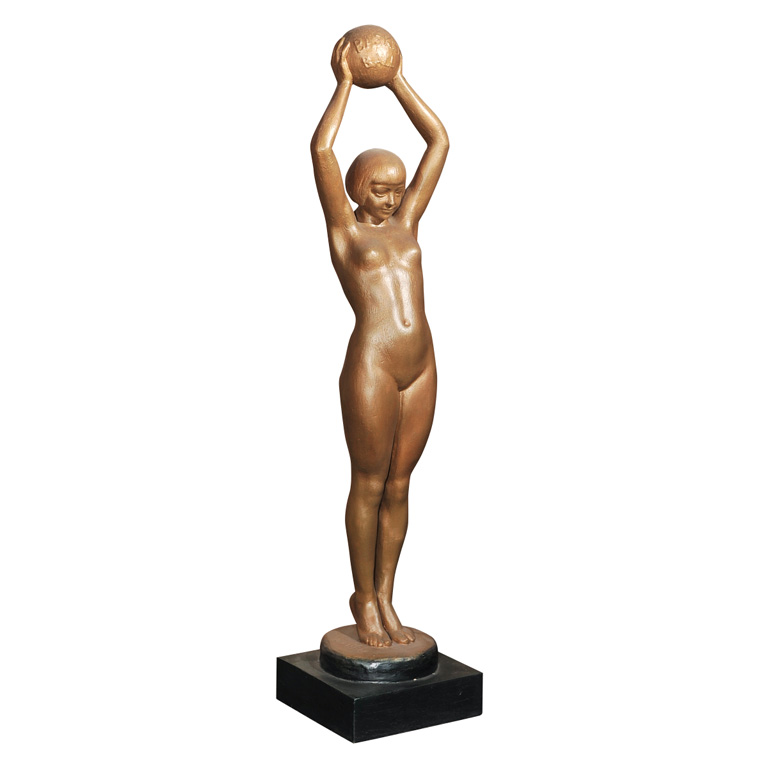 French Basketball Player Statue