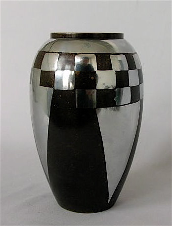french art deco dinanderie vase tableware art deco collection. Black Bedroom Furniture Sets. Home Design Ideas