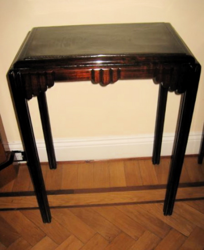 1930s mahogany side table sold items small tables art for Petite table deco