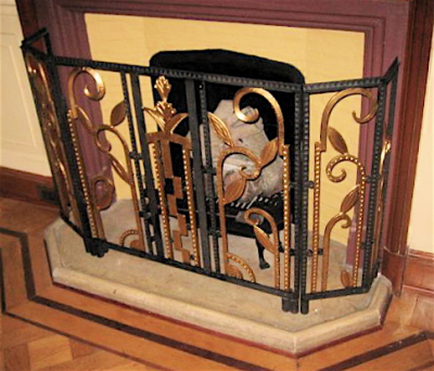 Art Deco Iron Fireplace Screen Sold Items Ironwork Art Deco Collection