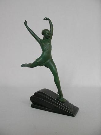 1930s Art Deco Female Sculpture • Pierre Le Faguays