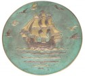 1930s Bronze Plate with Nautical Theme • Signed - P Le Faguays