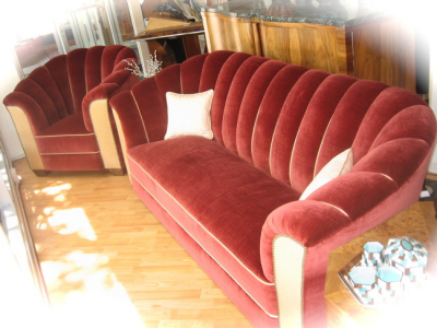 1930s Hollywood Style Sofa Amp Chair Set Sold Items
