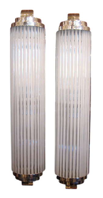 Large Art Deco Sconces Style Of Petito Pair