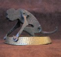 1930s Art Deco Monkey Cigar/Cigarette Cutter and Ashtray