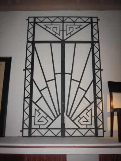 1930s art deco wrought iron double entry door sold items ironwork art deco collection. Black Bedroom Furniture Sets. Home Design Ideas