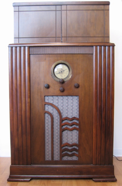 1930s American Art Deco Radio/Bar • RadioBar
