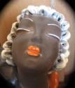 1930s Art Deco Woman's Head and Hands Ceramic Sculpture
