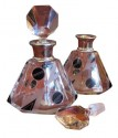 1930s Czech Art Deco Petite Crystal Decanter • Pair