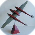 1940s United States Air Force WWII Aircraft Sculpture • P-38