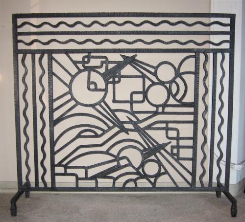 Iron Art Deco Fireplace Screen - Iron Art Deco Fireplace Screen Sold Items Ironwork Art Deco