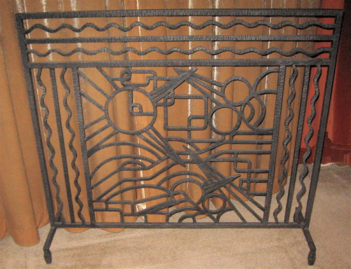 Iron Art Deco Fireplace Screen Sold Items Ironwork Collection
