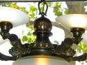 Classic Czechoslovakian Art Deco bronzed 5 arm Chandelier