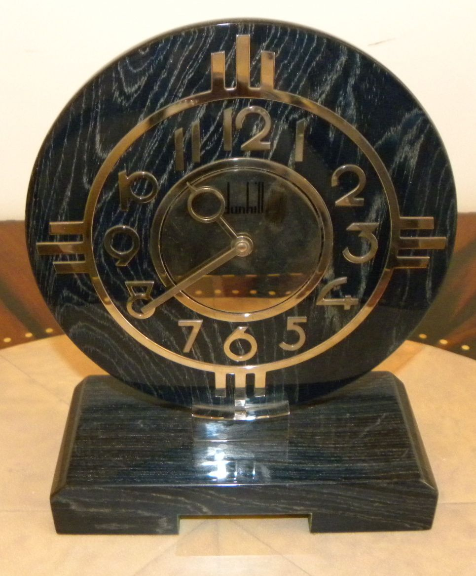 Dunhill Limited Edition Desktop Art Deco Clock With Case