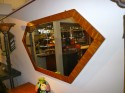 Tiger Flamed Maple Console with matching mirror