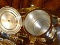 Stunning Art Deco Silverplate and  Bakelite Coffee Tea Service