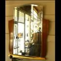 Original French Art Deco Rosewood Decorative dressing mirror