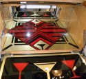 Unique Reverse painted mirror tray: Colorful Art Deco Pop up bar!