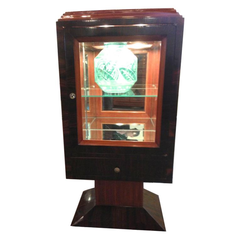 Unique art deco display cabinet vitrine with lights for Deko vitrine