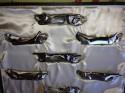 Complete set of 12 Sandoz Christofle's Gallia animal knife rests