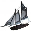 Macassar, Ebony, and chrome art deco sailboat