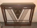 French style Art Deco metal console marble top