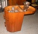 Original Art Deco Oak Rolling Bar