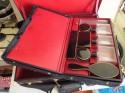 Elegant His/Her travel vanity set luggage in leather