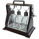 French Art Deco Tantalus liquor Cabinet in Macassar