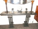 French Style Grand Art Deco Console in style of Edgar Brandt