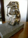 Chrome Plated Elephants Bookends French Art Deco