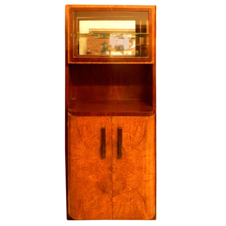 Important French China Vitrine cabinet by Maurice Dufrene