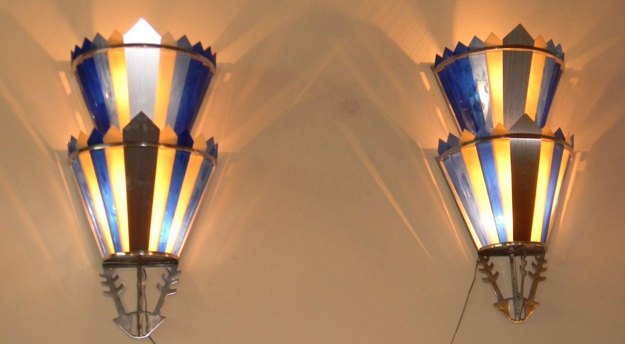 Art Deco Movie Theater Light Sconces   Vanity Ballroom ...