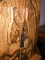 English Double Decker Bar - detail of locking cabinet