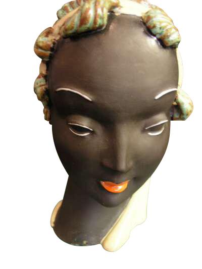 Czech Ceramic Head Figure