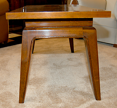 A Very Attractive Walnut Veneer Coffee Table Sold Items