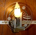 Two small light bulb sconce