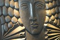 Deco Woman Carved wooden block
