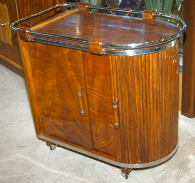 Art Deco Rolling Bar Cart Sold Items Bars Art Deco
