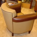 Pair of petite French club chairs