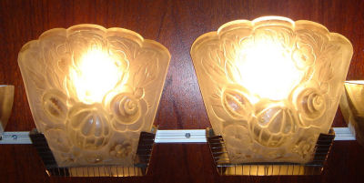 French floral sconces